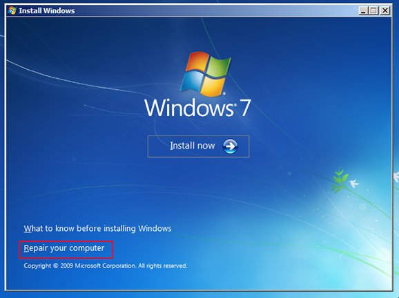 Fix Windows 7 installation after fitting a new motherboard