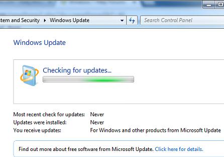 Windows 7 Home Prem/Pro wont update after a clean install